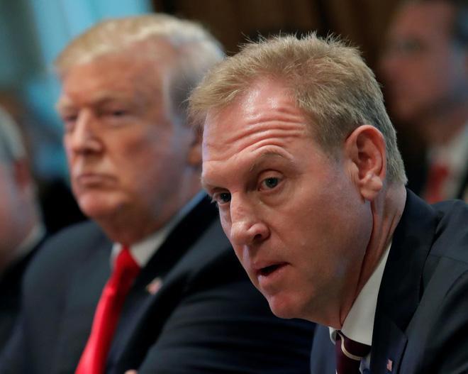 Tổng thống Mỹ Donald Trump và ông Patrick Shanahan. Ảnh: Reuters