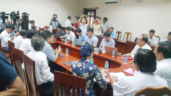 Toàn cảnh buổi họp báo Ảnh: Trần Thanh Phong