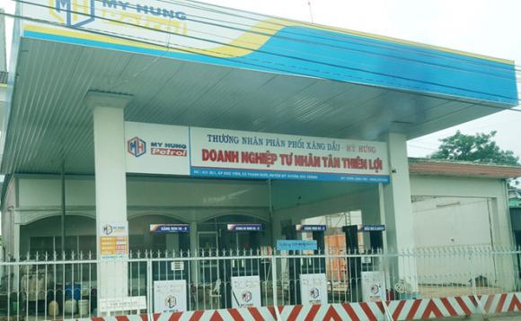 Một cửa hàng bán xăng của ông Trịnh Sướng đóng cửa