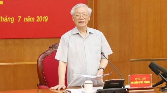Tổng bí thư, Chủ tịch nước Nguyễn Phú Trọng phát biểu tại phiên họp /// Ảnh TTXVN