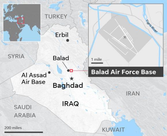 Căn cứ quân sự có lính Mỹ ở Iraq lại bị nã tên lửa, Washington phẫn nộ - Ảnh 3.