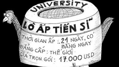 Việt Nam có những lò ấp với tần xuất rất nhanh các tiến sĩ. Ảnh: Internet.