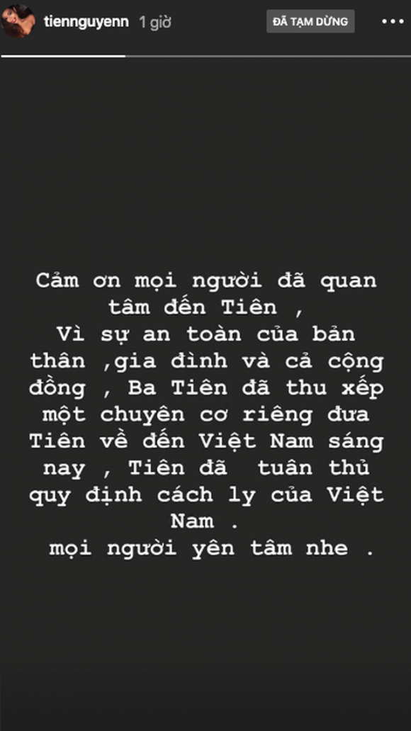 Ái nữ hàng hiệu Tiên Nguyễn đáp chuyên cơ về Việt Nam chấp hành cách ly - 2