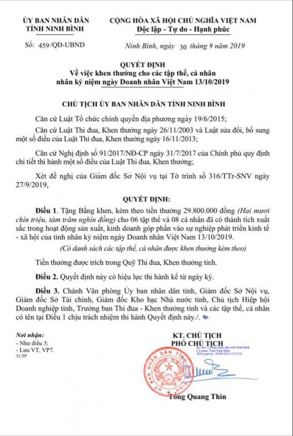 Liên tiếp xâm hại di sản Tràng An, vẫn được Chủ tịch tỉnh Ninh Bình tặng bằng khen - Ảnh 3.