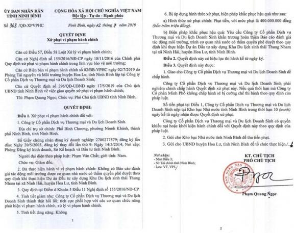 Liên tiếp xâm hại di sản Tràng An, vẫn được Chủ tịch tỉnh Ninh Bình tặng bằng khen - Ảnh 2.