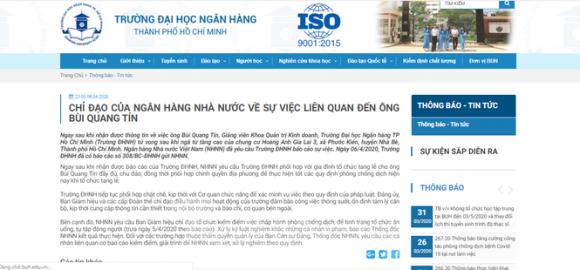 Ngân hàng Nhà nước yêu cầu kiểm điểm các cá nhân liên quan vụ TS Bùi Quang Tín tử vong - ảnh 1