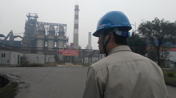 Xưởng luyện gang của Nhà máy thép Việt Trung (VTM) /// Ảnh: Chí Hiếu