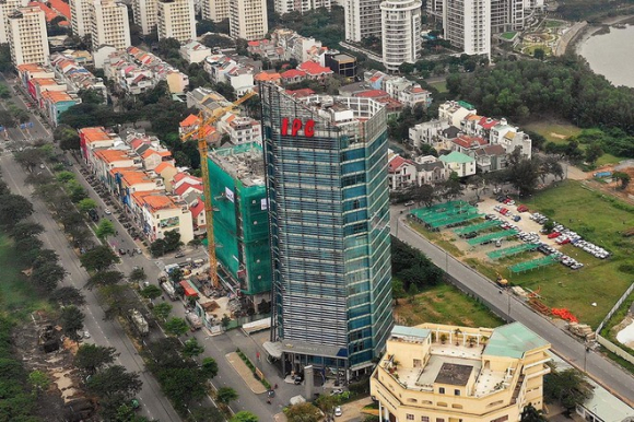 Tòa nhà trụ sở IPC ở Q.7 (TP.HCM) /// Ảnh: Lam Ngọc