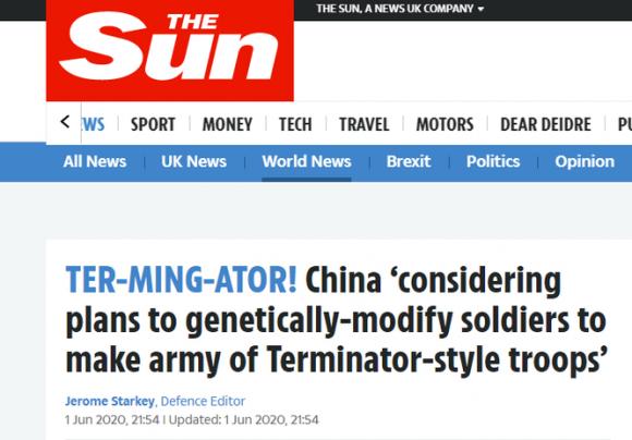 Truyền thông Anh viết Trung Quốc có kế hoạch cải tạo gene binh sĩ, báo Trung Quốc bác bỏ - ảnh 1