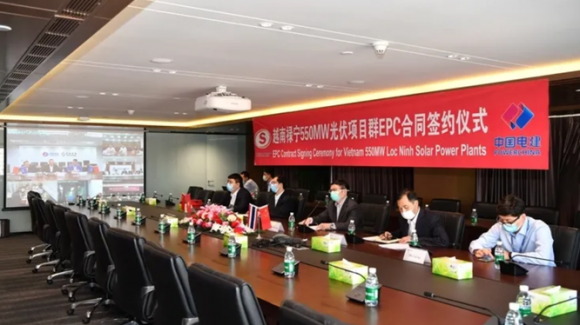 Nhà thầu Trung Quốc được lựa chọn làm tổng thầu EPC cho siêu dự án quang điện Lộc Ninh. (Nguồn: weixin)