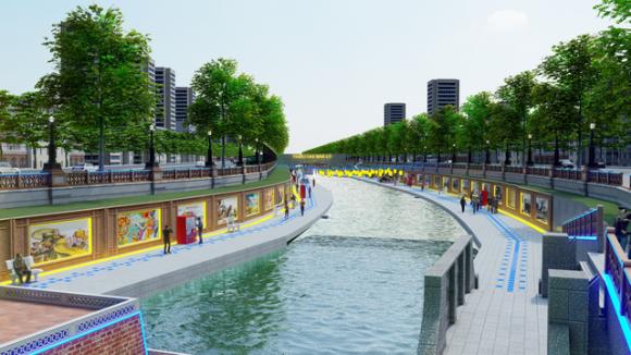 """Đề xuất cải tạo sông Tô Lịch để """"hồi sinh"""" thành công viên lịch sử, văn hoá, tâm linh - Ảnh 1"""