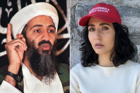 Osama bin Laden và cháu gái Noor Bin Ladin. (Ảnh: Getty Images)