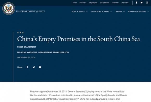 Mỹ chỉ trích: Tại Mỹ năm 2015, Trung Quốc hứa không quân sự hóa Trường Sa chỉ là hứa suông - Ảnh 1.