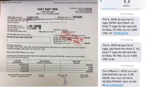 Phí nhắn tin 1.580 đồng, chậm trả một tháng bị ngân hàng phạt thành 206.000 đồng - Ảnh 1.