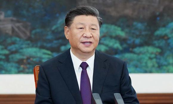 Chủ tịch Trung Quốc Tập Cận Bình phát biểu từ Bắc Kinh trong cuộc họp trực tuyến của Liên Hợp Quốc hôm 21/9. Ảnh: Xinhua.
