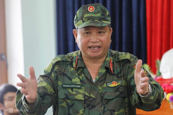 Đại tá Trương Quang Nhạn, Phó tham mưu trưởng quân khu 5. Ảnh: Phước Tuấn.