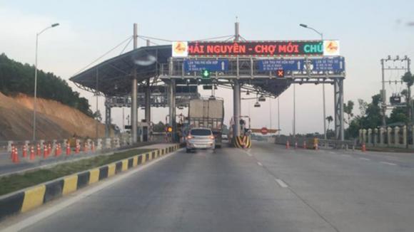 Trạm BOT Thái Nguyên - Chợ Mới, 1 trong 4 trạm vẫn đang bị dừng thu phí /// Ảnh: TN
