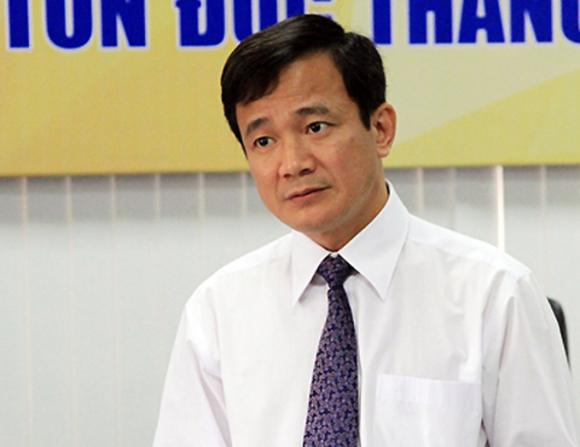Ông Lê Vinh Danh tại Đại học Tôn Đức Thắng, tháng 3/2016. Ảnh: Mạnh Tùng.
