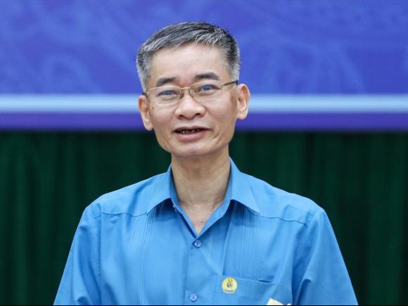 Ông Trần Văn Thuật, Phó chủ tịch Tổng Liên đoàn Lao động VN. Ảnh: Sơn Tùng.