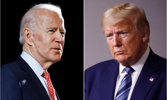 Úng viên Dân chủ Joe Biden (trái) và Tổng thống Donald Trump. Ảnh: AP.