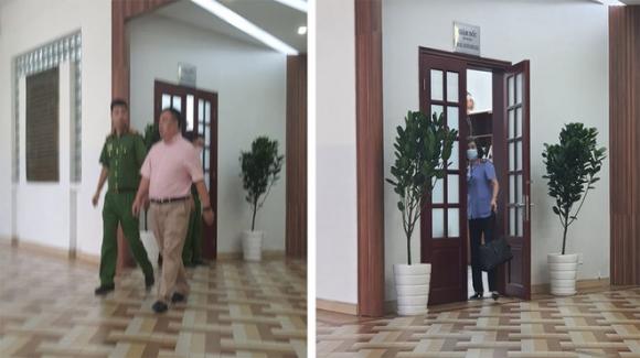 Cơ quan chức năng tiến hành khám xét nơi làm việc của Giám đốc bệnh viện mắt TP.HCM trong ngày 4.11 /// Ảnh: CTV