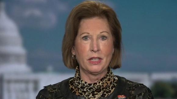 Bà Sidney Powell trong cuộc phỏng vấn với Fox News (Ảnh: Fox News)