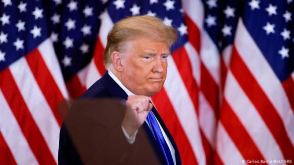 Tổng thống Mỹ Donald Trump tại cuộc họp báo Nhà Trắng đêm bầu cử 3.11 /// Reuters