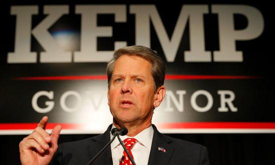 Ứng cử viên thống đốc đảng Cộng hòa Brian Kemp tham dự sự kiện Đêm bầu cử tại Trung tâm Cổ điển vào ngày 6 tháng 11 năm 2018 ở Athens, Georgia. (Ảnh của Kevin C. Cox / Getty Images)