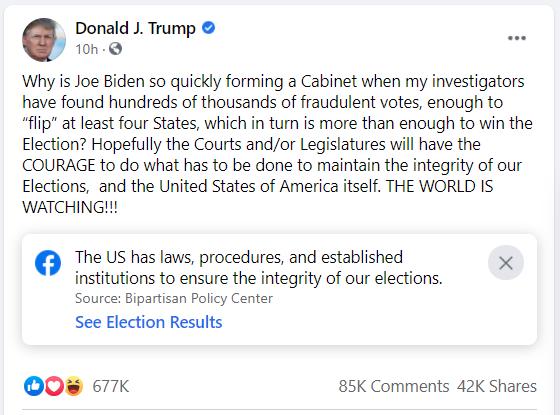 Ông Trump: Điều tra viên của tôi đã tìm ra hàng trăm nghìn phiếu gian lận, đủ sức lật ít nhất 4 bang! - Ảnh 1.