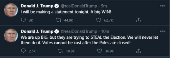 Ông Trump nói phe Dân chủ muốn cướp cuộc bầu cử - Ảnh 1.