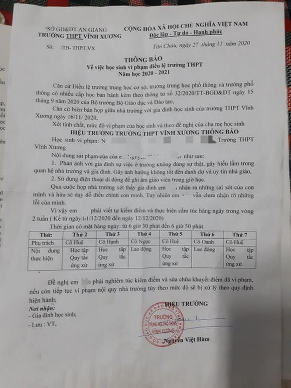 Nữ sinh nghi tự tử ở An Giang: 'Em không dám đến trường nữa' - ảnh 2