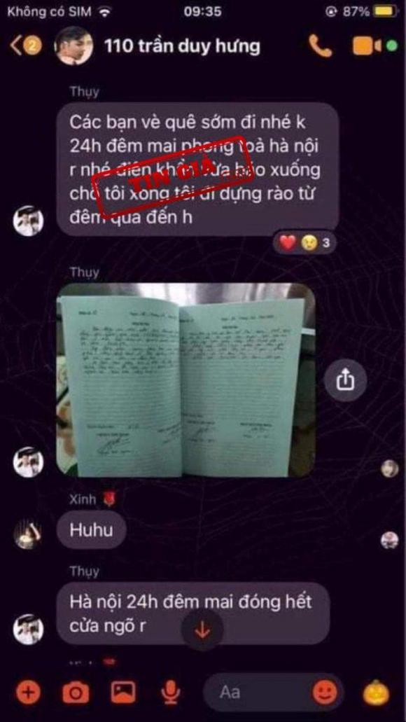 """Có hay không việc """"Phong tỏa Hà Nội do COVID-19"""" đang làm náo loạn mạng xã hội? ảnh 1"""