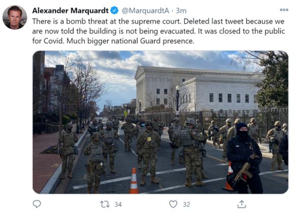 Tòa án Tối cao Mỹ bị đe dọa đánh bom ngay trước lễ nhậm chức của ông Biden - Ảnh 1.
