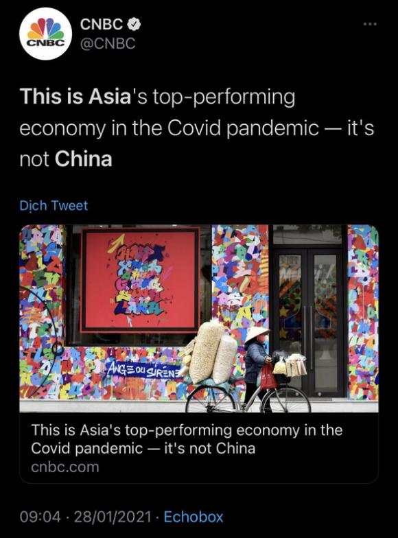 CNBC: Không phải Trung Quốc, Việt Nam mới là nền kinh tế đỉnh nhất châu Á 2020 - Ảnh 1.