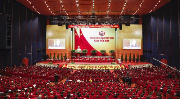 Toàn cảnh phiên khai mạc Đại hội XIII. Ảnh: Giang Huy