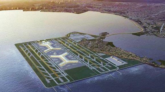 Phối cảnh sân bay Sangley Point sau khi được mở rộng, nâng cấp (Ảnh: Dwnews).