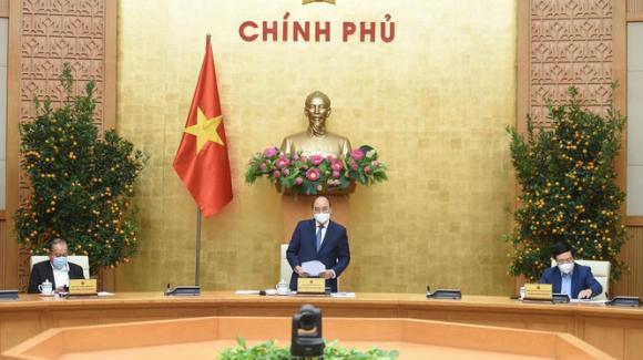 Thủ tướng Nguyễn Xuân Phúc chủ trì cuộc họp Thường trực Chính phủ về phòng, chống dịch COVID-19.