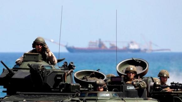 Binh sĩ Mỹ trong một cuộc tập trận ở Philippines (Ảnh: Reuters)