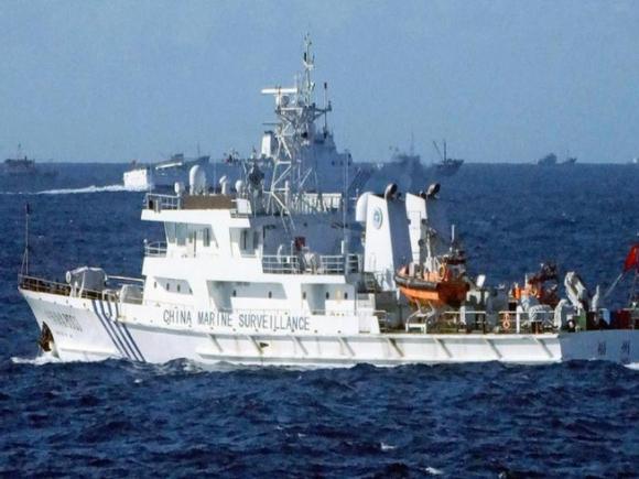 Tàu hải cảnh Trung Quốc. Ảnh: Kyodo.