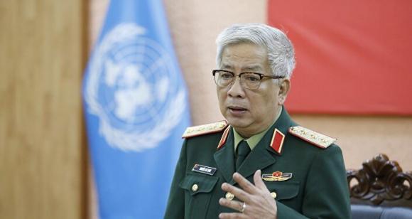 Thượng tướng Nguyễn Chí Vịnh, Thứ trưởng Bộ Quốc phòng chủ trì buổi lễ.