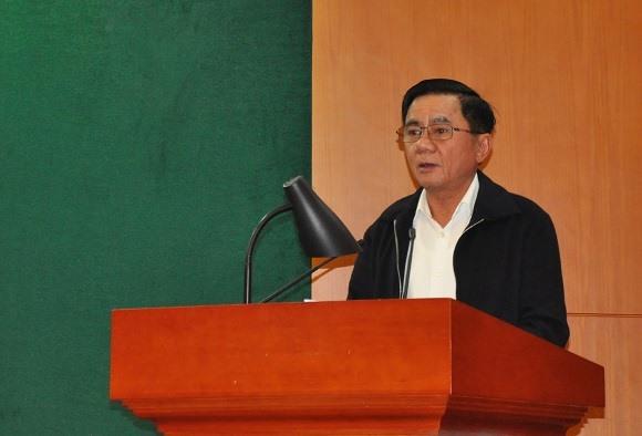 Ông Trần Cẩm Tú, Ủy viên Bộ Chính trị, Chủ nhiệm UBKT Trung ương chủ trì Hội nghị công khai tài sản, thu nhập lần đầu đối với các thành viên UBKT Trung ương.