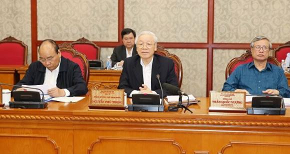 Tổng Bí thư, Chủ tịch nước Nguyễn Phú Trọng phát biểu.