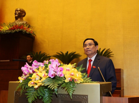 Thủ tướng Chính phủ Phạm Minh Chính phát biểu nhậm chức.