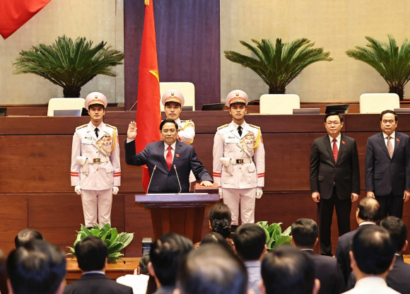 Thủ tướng Chính phủ Phạm Minh Chính tuyên thệ nhậm chức trước Quốc hội, đồng bào và cử tri cả nước.