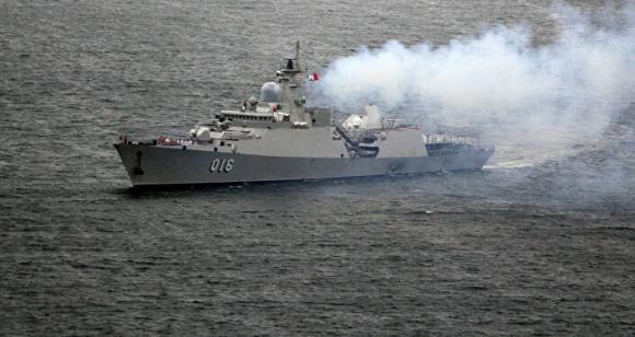 Tàu khu trục Quang Trung của Lực lượng Hải quân Việt Nam đã đến Vladivostok
