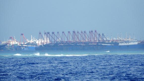 Tàu dân binh Trung Quốc thường xuyên hiện diện, gây rối ở quần đảo Trường Sa /// MAI THANH HẢI