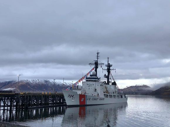 Tàu tuần tra Douglas Munro tại cảng ở căn cứ Kodiak, bang Alaska ngày 24.4.2021 /// Tuần duyên Mỹ