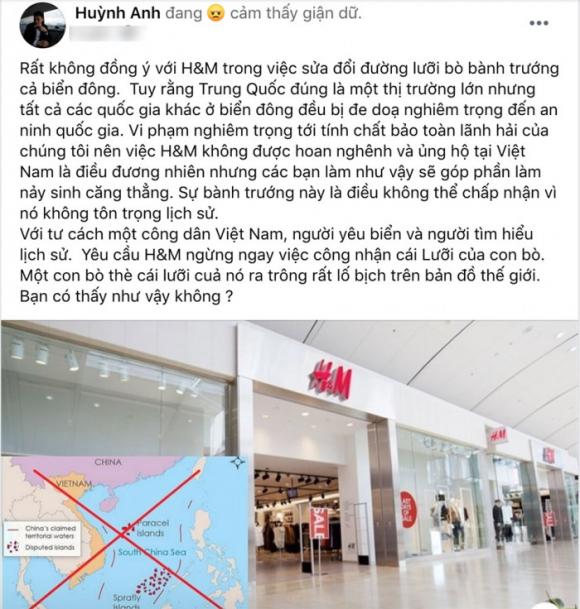 Sao Việt tẩy chay H&M vì đăng bản đồ đường lưỡi bò Trung Quốc 3
