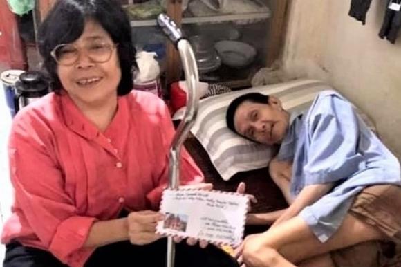 Nữ công nhân Phạm Ngọc Hiệp phải chờ đợi thêm 3 năm mới đủ tuổi để hưởng mức lương hưu 2,7 triệu đồng sau 24 năm lao động, trong đó 15 năm lao động nặng nhọc đến suy giảm 61% sức khoẻ. Ảnh: Nam Dương