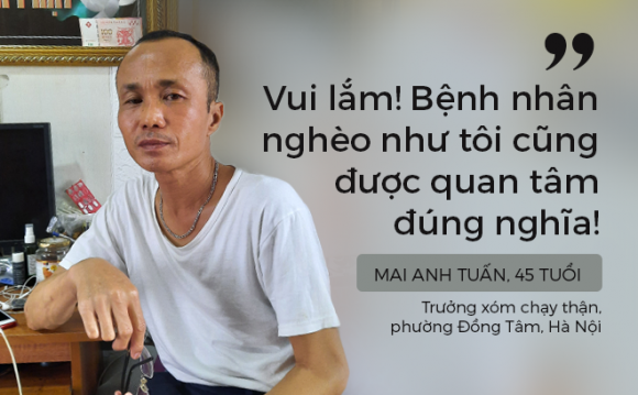 """Bệnh nhân đang điều trị: """"Hoan hô bệnh viện Bạch Mai! Bệnh viện đã nghĩ nhiều hơn tới người nghèo!"""""""